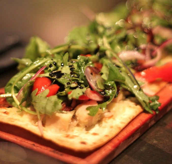 Grilled Chicken & Brie Flatbread