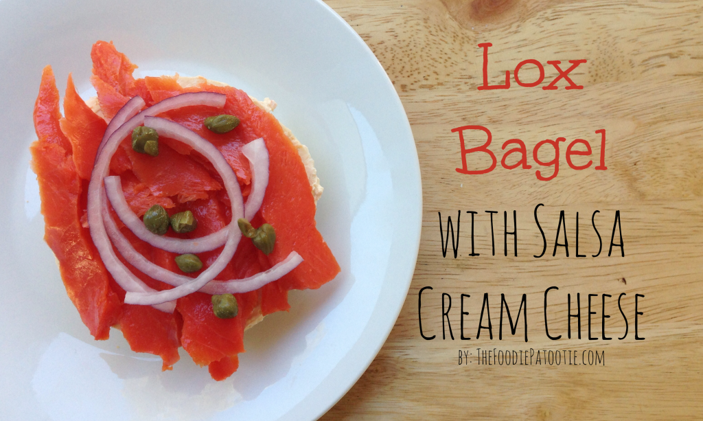 Bagels and Lox via TheFoodiePatootie.com | #breakfast #seafood #salmon #foodholiday #foodcalendar #recipe