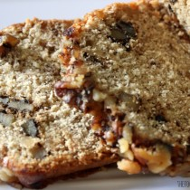 Banana Bread via TheFoodiePatootie.com | #breakfast #bread #banana #foodholiday #recipe
