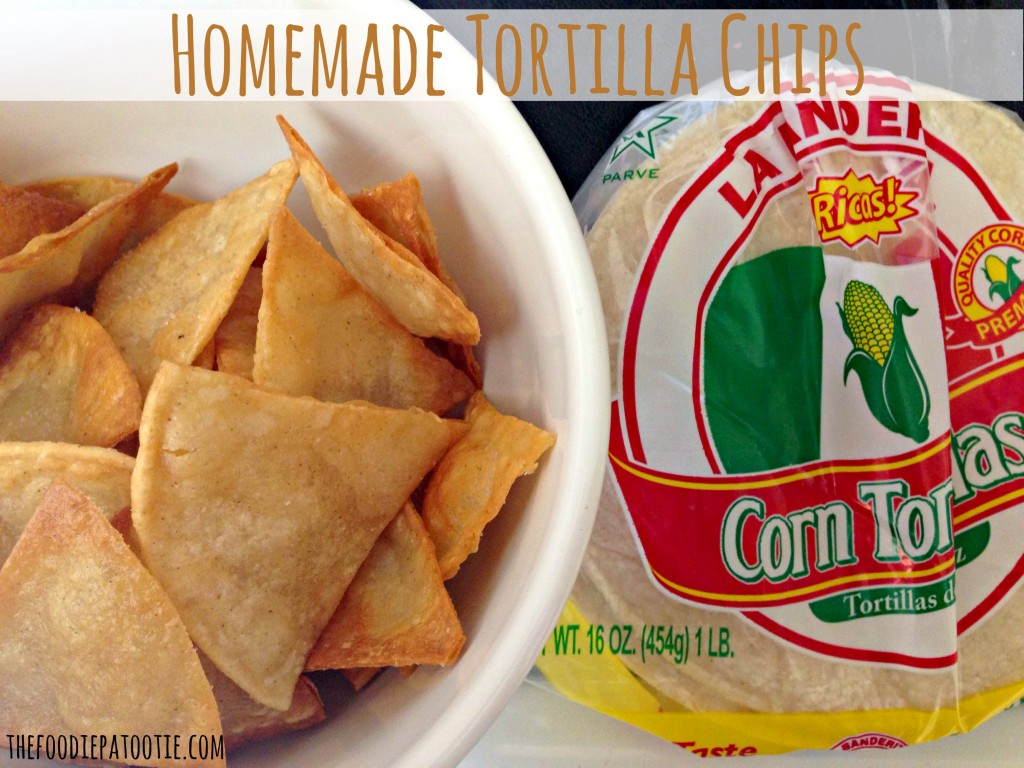 Homemade Tortilla Chips for National Tortilla Chip Day via TheFoodiePatootie.com | #appetizer #snack #mexican #recipe