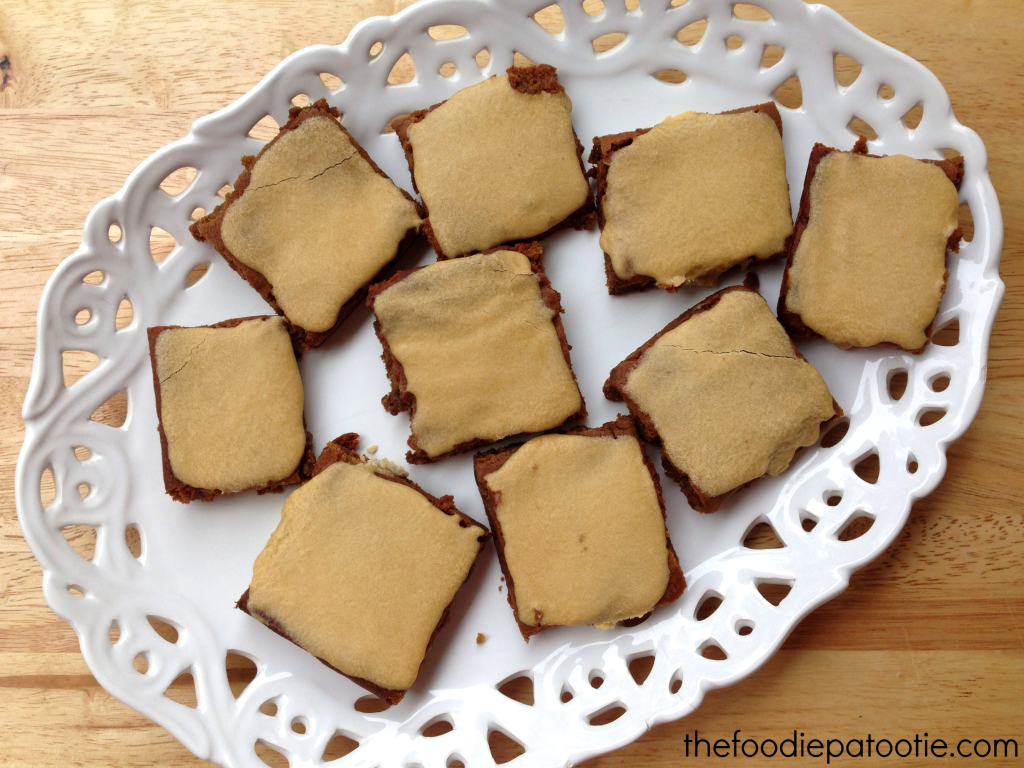 Molasses Bars with Sweet Frosting via TheFoodiePatootie.com | #dessert #foodholiday #foodcalendar #recipe