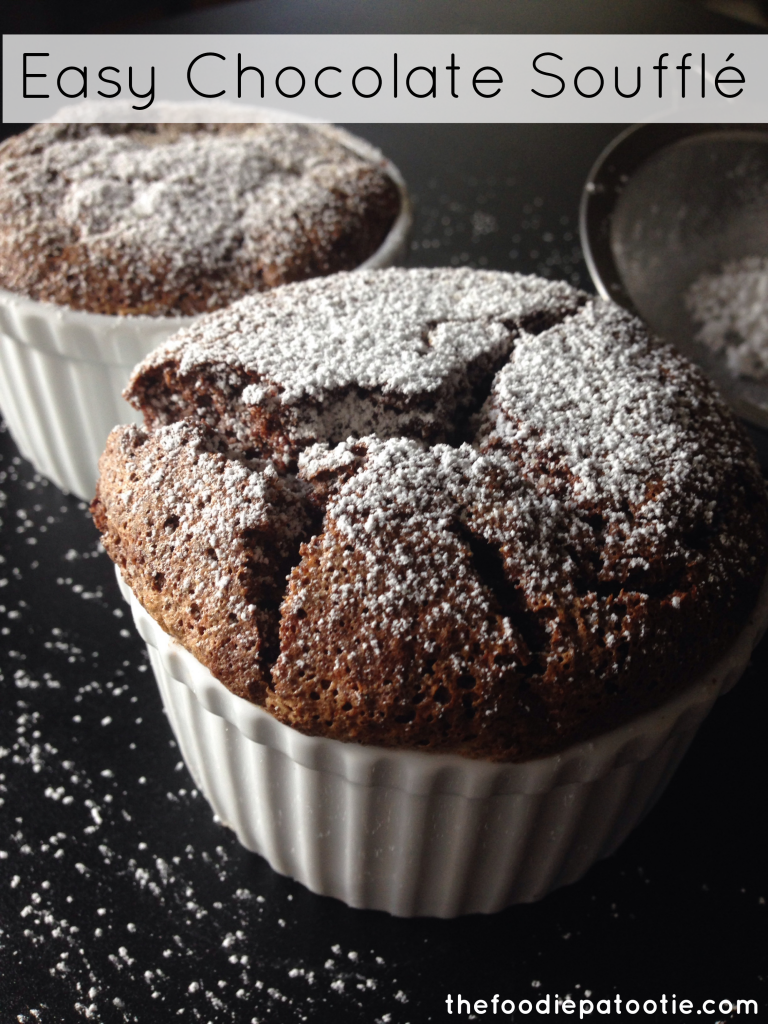 Easy Chocolate Souffle via TheFoodiePatootie.com | #chocolate #dessert ...