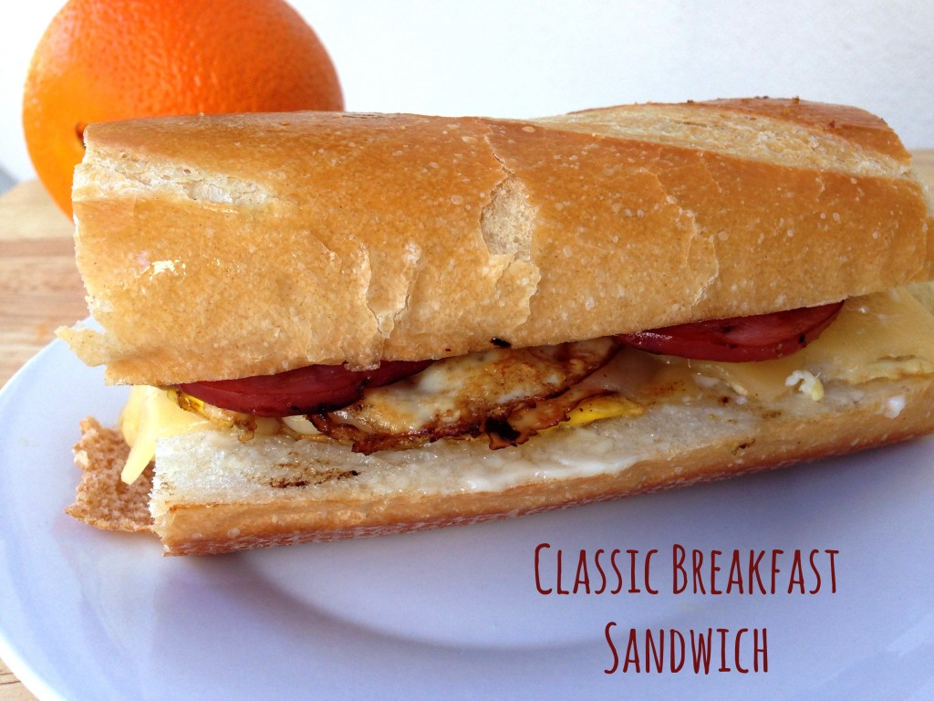 Classic Breakfast Sandwich via TheFoodiePatootie.com | #breakfast # ...