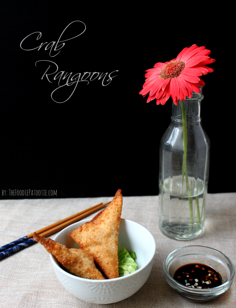Crab Rangoons via TheFoodiePatootie.com | #crab #asian #seafood #fried #appetizer #recipe #foodholiday
