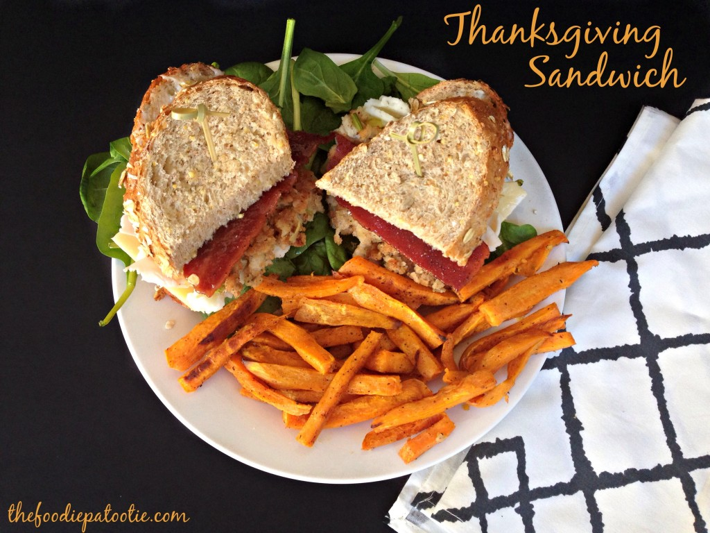 Thanksgiving Sandwich via TheFoodiePatootie.com | #sandwich #recipe #turkey #foodholiday