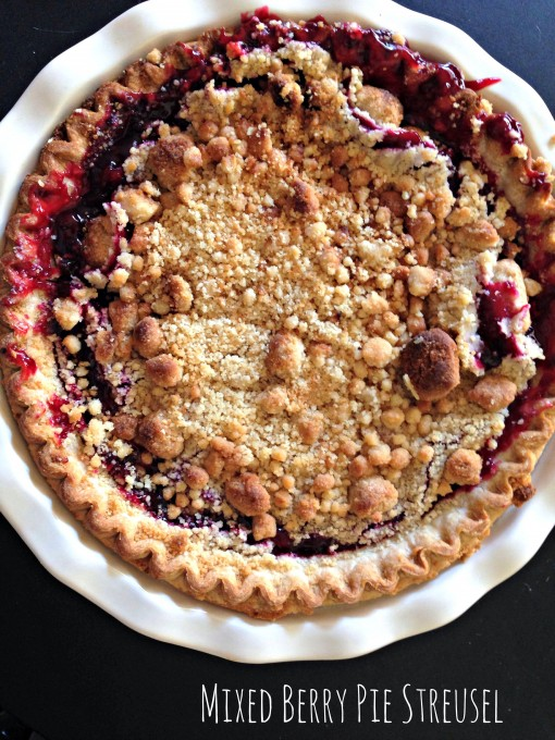 National Blueberry Pie Day | Mixed Berry Pie Streusel