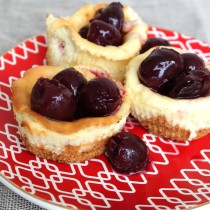 National Cherry Cheesecake Day | Mini Cherry Cheesecakes