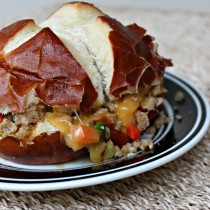 National Pretzel Day | Pretzel Bun Pork Sandwich