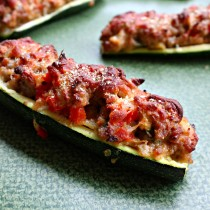 National Zucchini Day | Pork-Stuffed Zucchini Boats