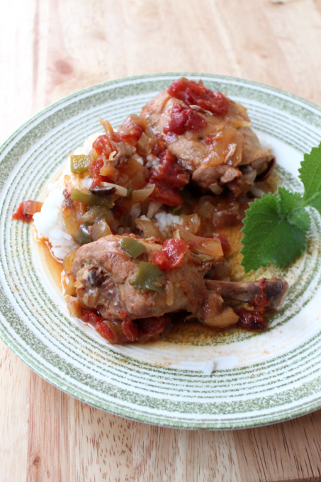National Coq Au Vin Day | Slow Cooker Chicken Cacciatore