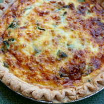 National Quiche Lorraine Day | Quiche Lorraine (with spinach)