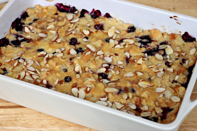 National Rice Pudding Day | Rice Pudding Bread Pudding with Blueberries