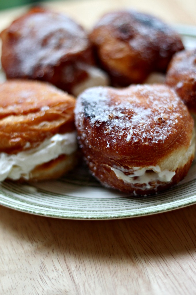 National Cream-Filled Donut Day | Vanilla Cream Biscuit Donuts