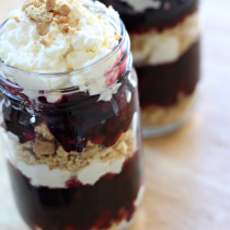 National Strawberry Cream Pie Day | Mixed Berry Pie Parfait