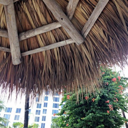 relaxing under a tiki hut is always a good idea