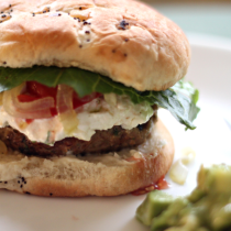 National Cheeseburger Day | Juicy Turkey Burgers with Goat Cheese