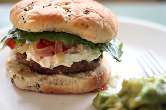 National Cheeseburger Day | Juicy Turkey Burgers with Goat Cheese ...
