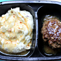 National TV Dinner Day | Salisbury Steak with Roasted Garlic Mashed Potatoes