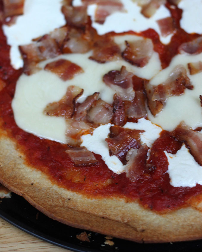 National Greasy Foods Day | Bacon Pizza
