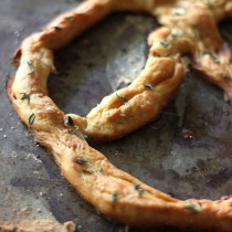 National Pretzel Day | Single-Serving Thyme Pretzel