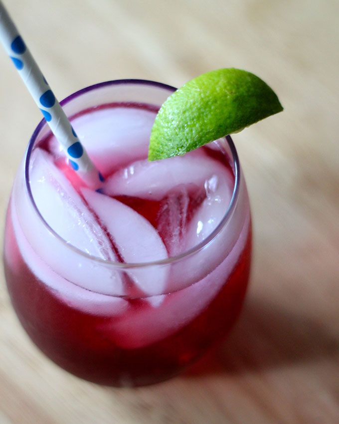 National Carbonated Beverage with Caffeine Day | Cran-Raspberry Lime Cocktail