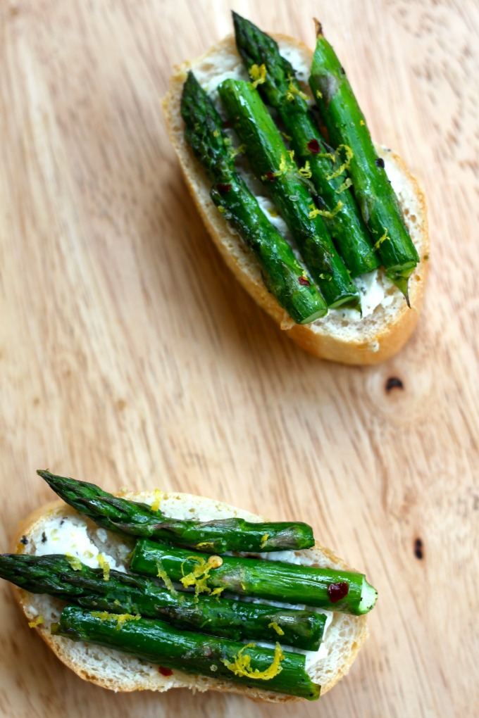 Asparagus and Goat Cheese Crostini