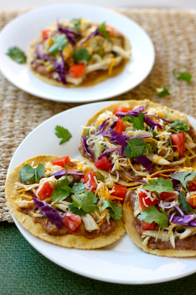 Rotisserie Chicken Tostadas Recipe — Dishmaps