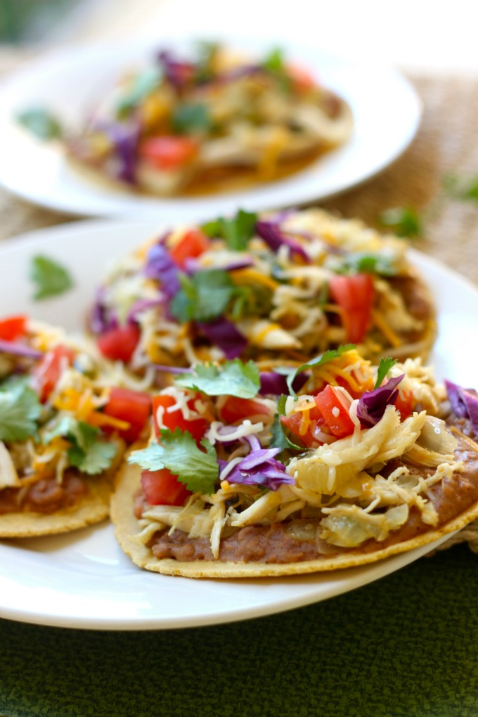 chicken quick chicken tostadas whole chicken tostadas recipe chicken ...