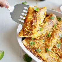 Butternut Squash and Black Bean Enchiladas recipe