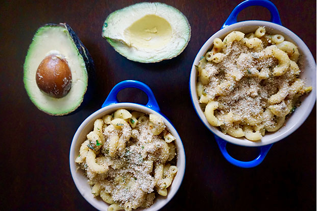 Creamy Avocado Macaroni and Cheese recipe