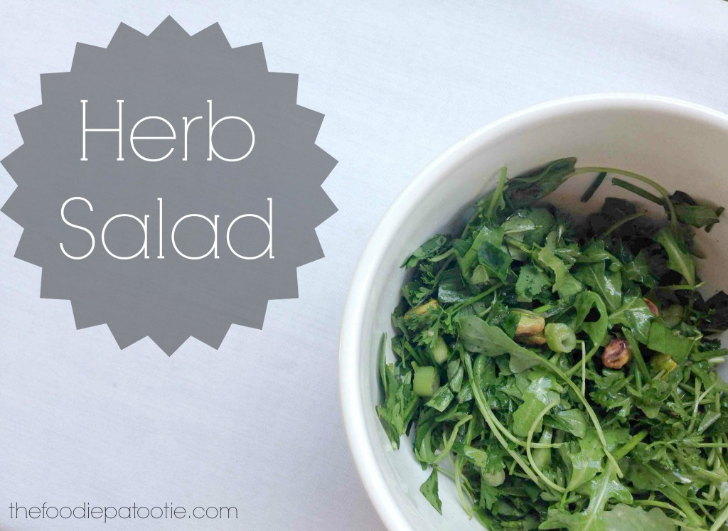 Herb Salad via TheFoodiePatootie.com | #salad #healthy #recipe