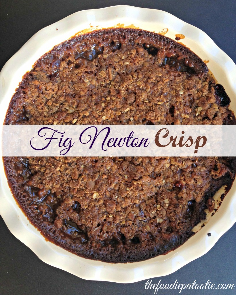 Fig Newton Crisp for National Fig Newton Day #dessert #recipe #fruit