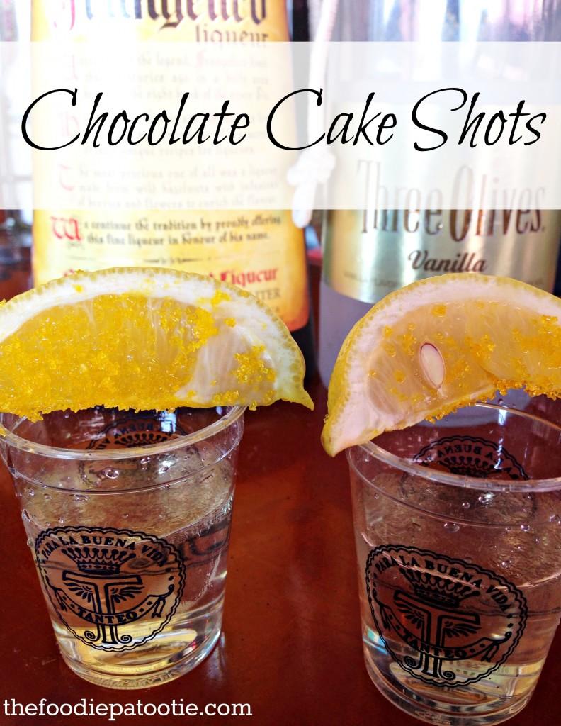 Chocolate Cake Shots via TheFoodiePatootie.com | #chocolate #booze #drinks #foodholiday #foodcalendar #recipe