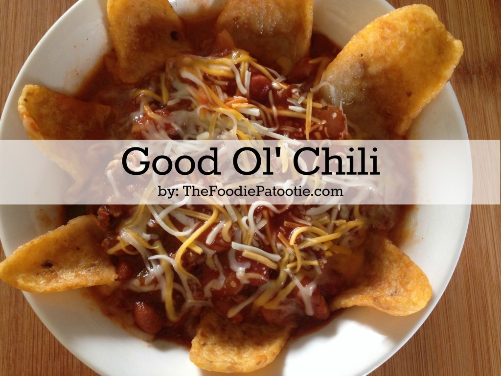 Good Ol' Chili via TheFoodiePatootie.com   #chili #onepotmeals #recipe