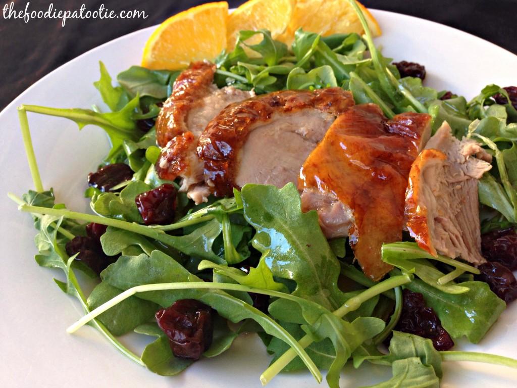 Peking Duck Salad | TheFoodiePatootie.com | #duck #salad #healthy