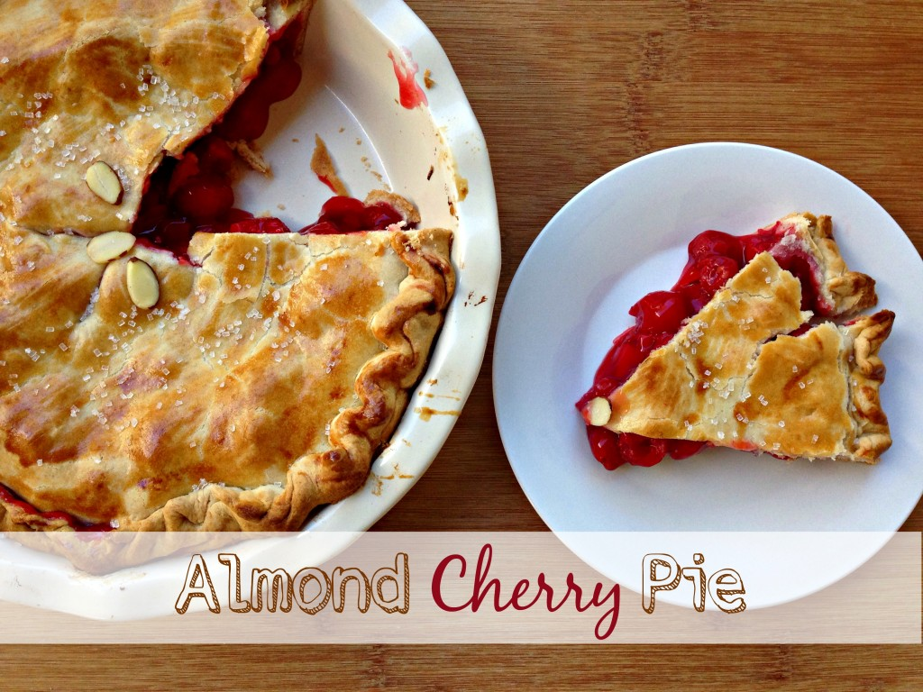 Almond Cherry Pie via TheFoodiePatootie.com | #dessert #cherry #almond #pie