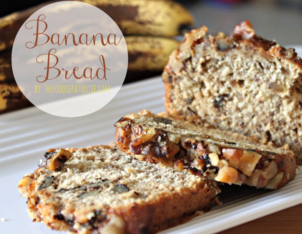 Banana Bread via TheFoodiePatootie.com   #breakfast #bread #banana #foodholiday #recipe