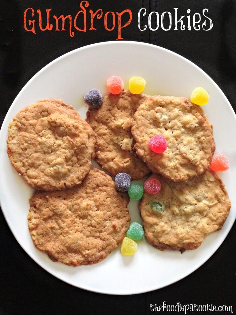 Gumdrop Cookies via TheFoodiePatootie.com | #dessert #cookies #foodholiday #foodcalendar #recipe #baking