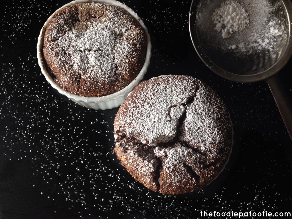 Easy Chocolate Souffle via TheFoodiePatootie.com | #chocolate #dessert #recipe #foodholiday