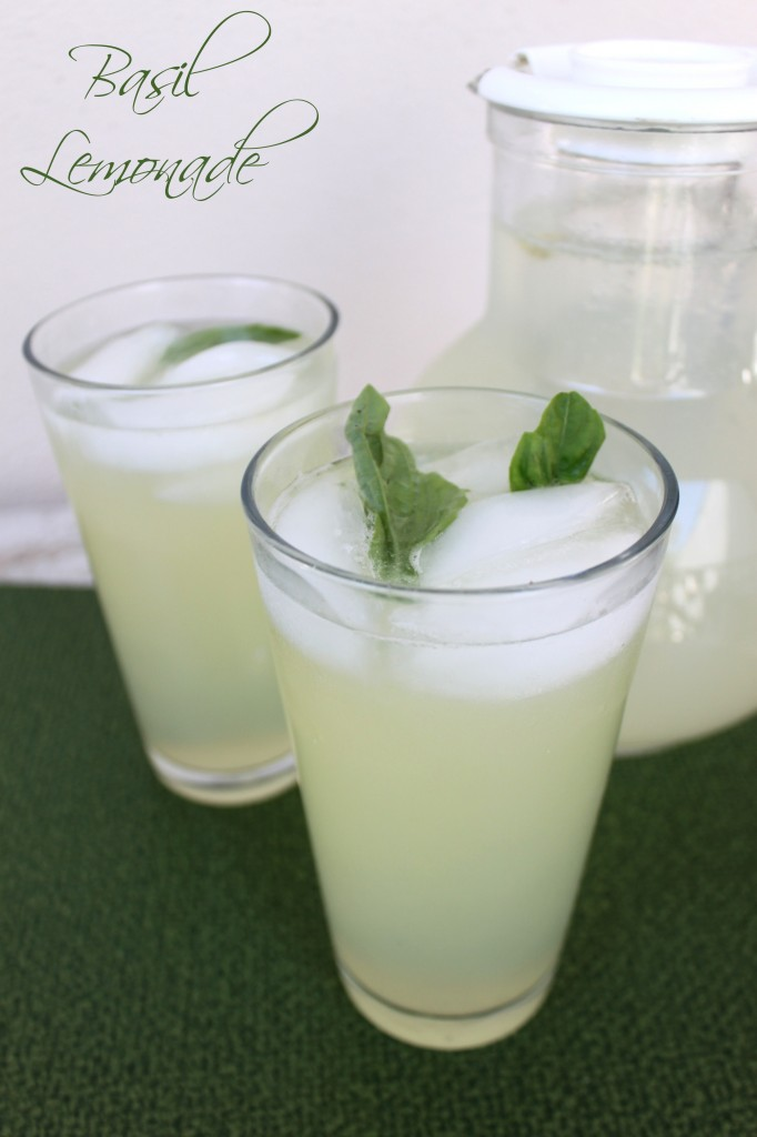 Basil Lemonade via TheFoodiePatootie.com   #drinks #lemon #herbs #basil #recipe #foodholiday