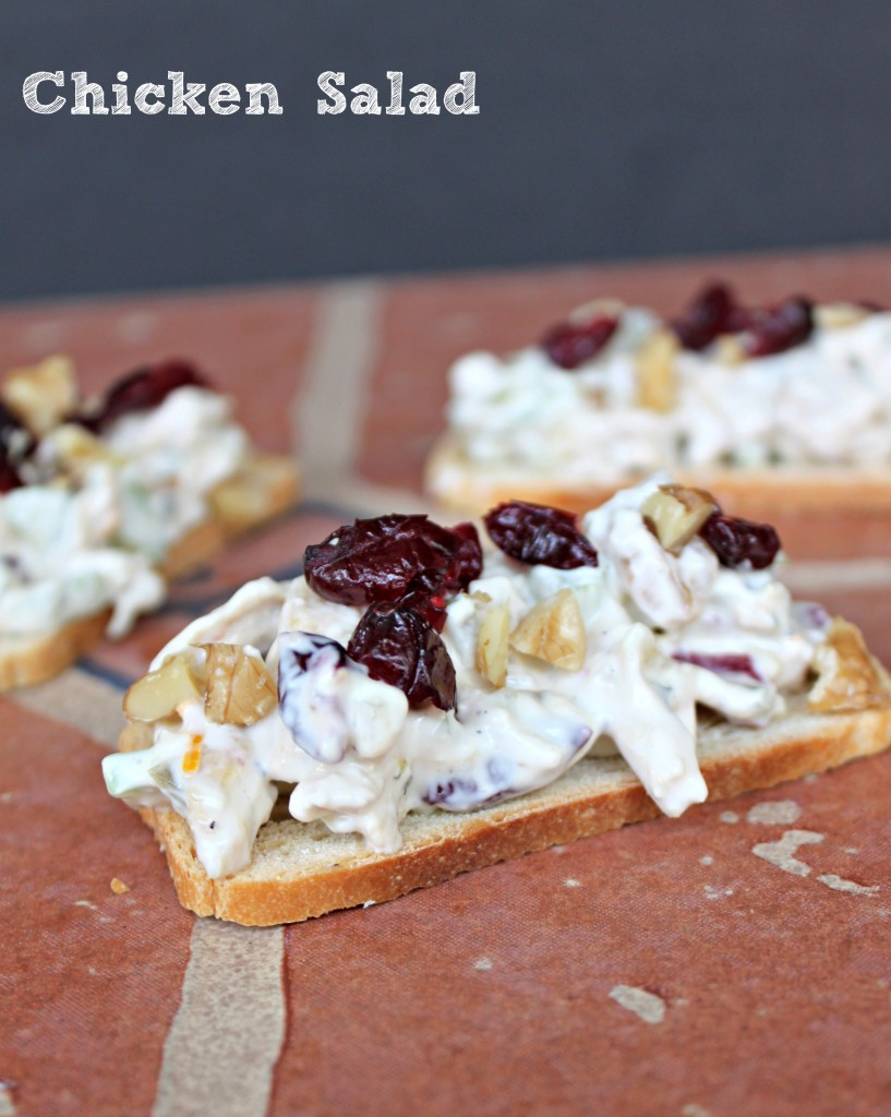 Chicken Salad via TheFoodiePatootie.com   #appetizer #poultry #chicken #recipe #foodholiday