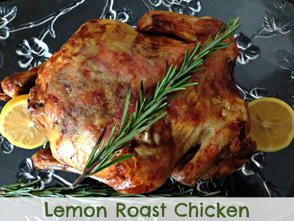 Lemon Roast Chicken via TheFoodiePatootie.com | #recipe #foodholiday #poultry #chicken