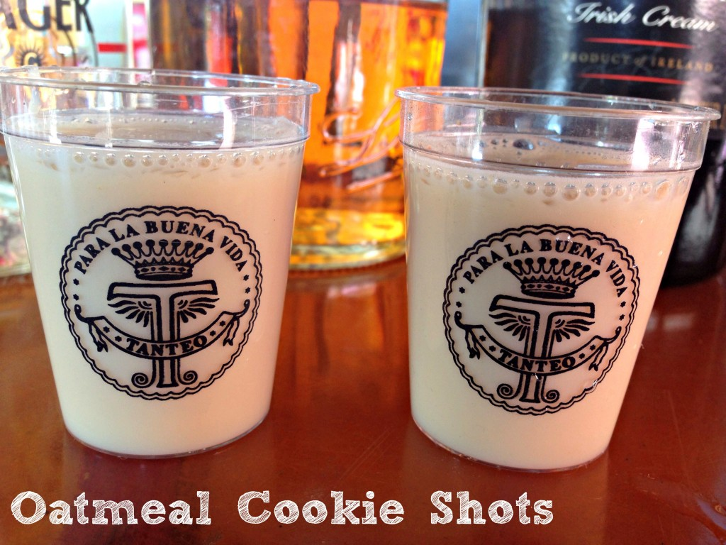 Oatmeal Cookies Shots via TheFoodiePatootie.com | #booze #drinks #shots #recipe #foodholiday #baking #cookies
