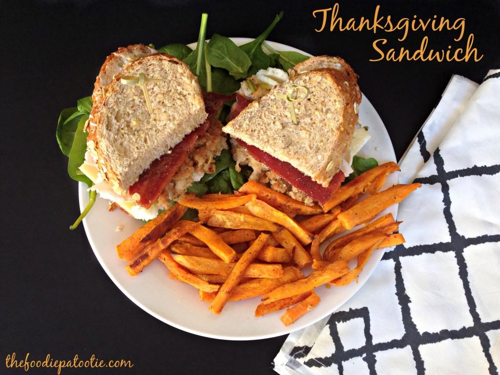 Thanksgiving Sandwich via TheFoodiePatootie.com | #sandwich #recipe #turkey #foodholiday