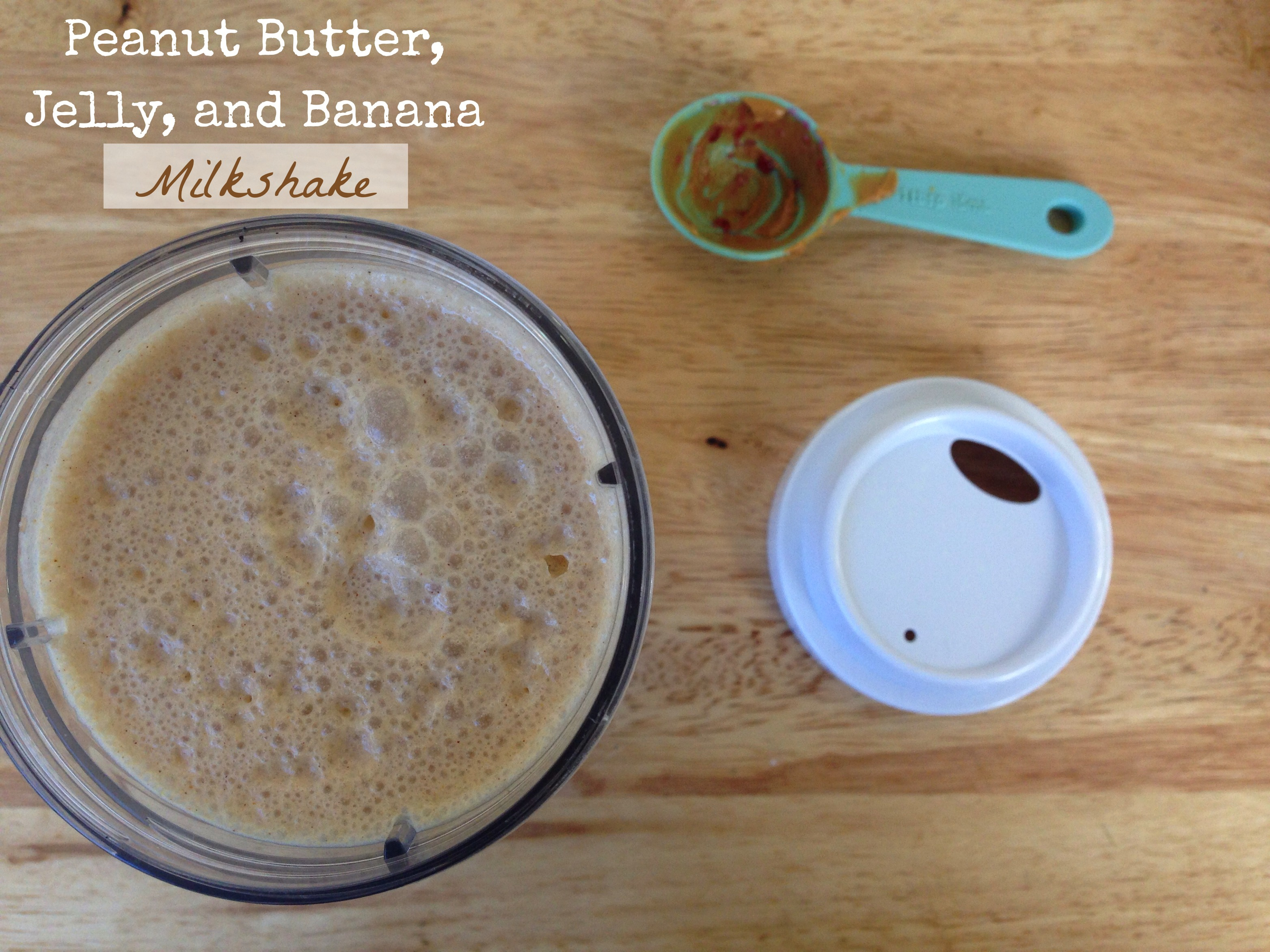 Peanut Butter, Jelly, and Banana Milkshake