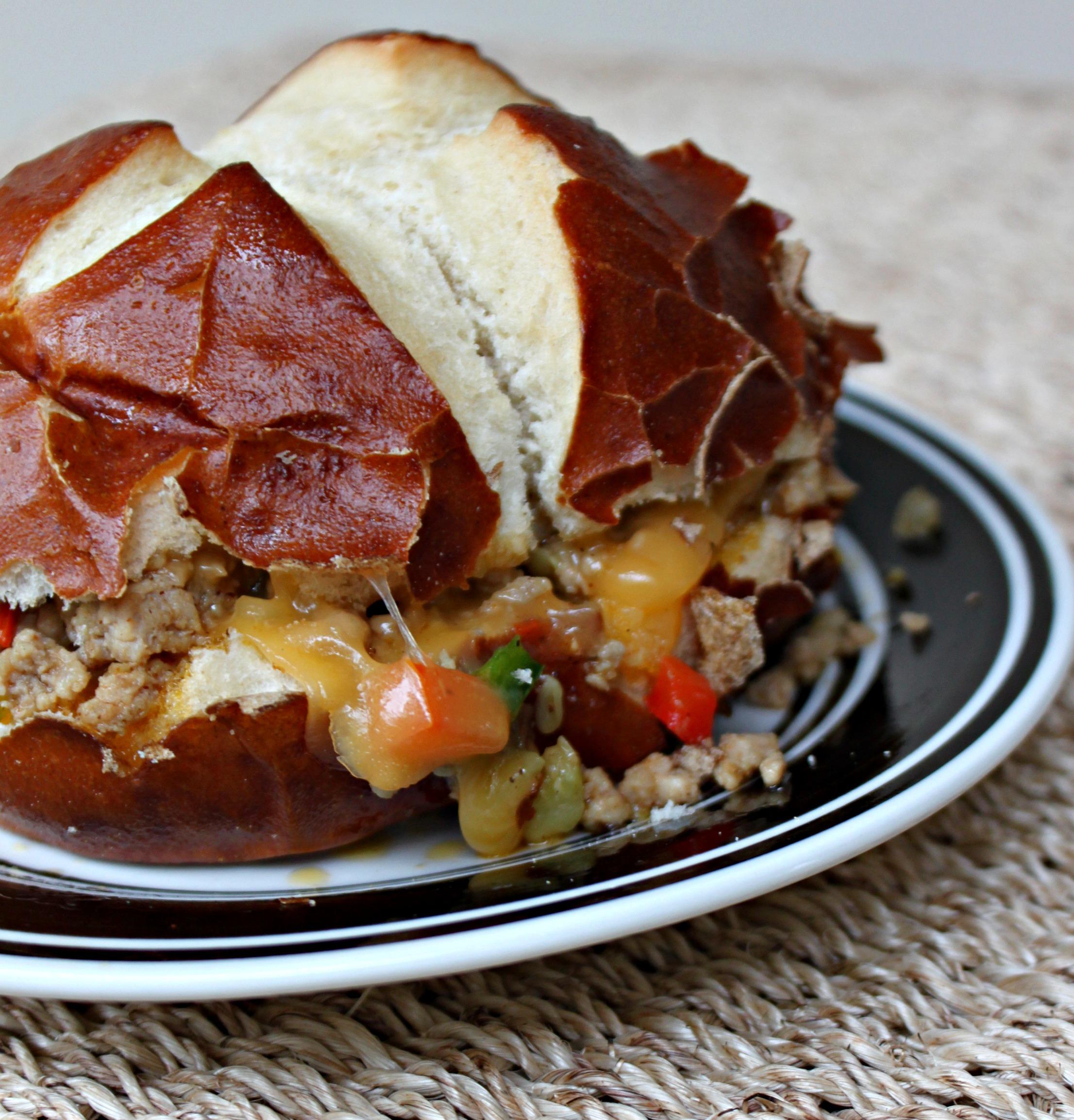 National Pretzel Day | Pretzel Bun Pork Sandwich