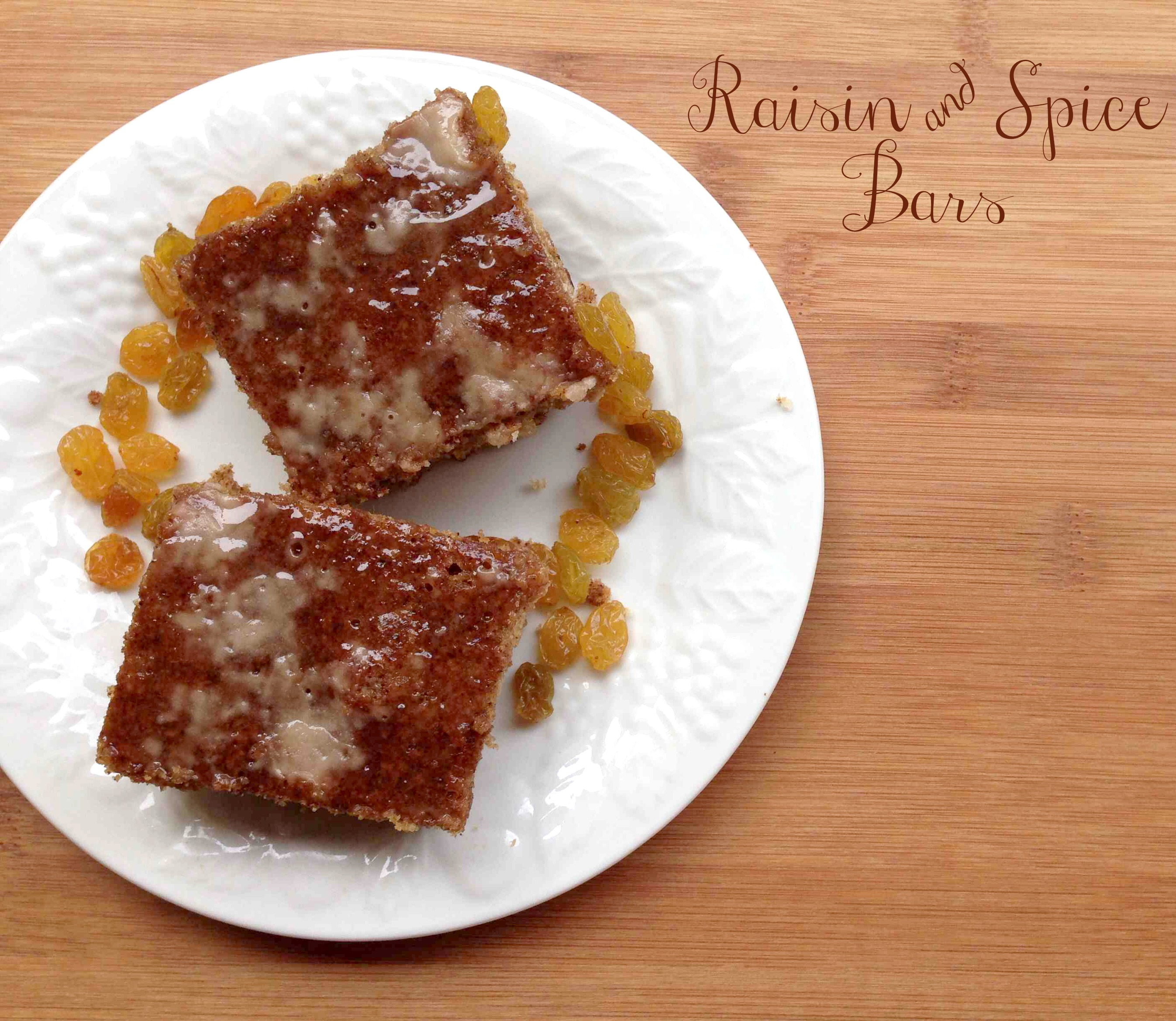 Glazed Raisin & Spice Bars