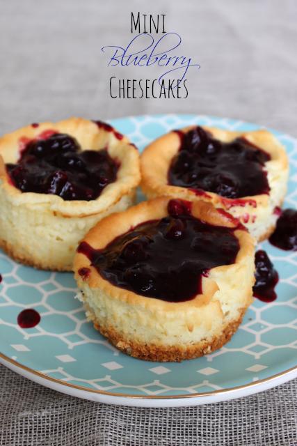 National Blueberry Cheesecake Day | Mini Blueberry Cheesecakes