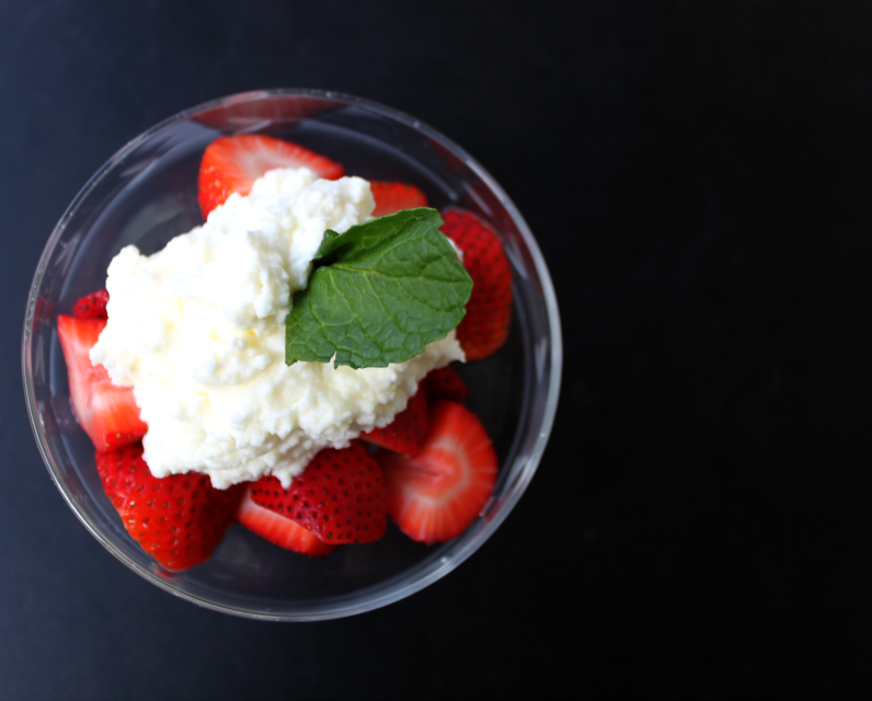 National Strawberries and Cream Day | Strawberries With Mint-Infused Cream