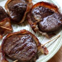 National Filet Mignon Day | Bacon-Wrapped Filet Mignon